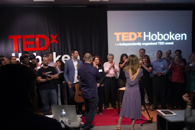 TEDx Hoboken at the close of the event