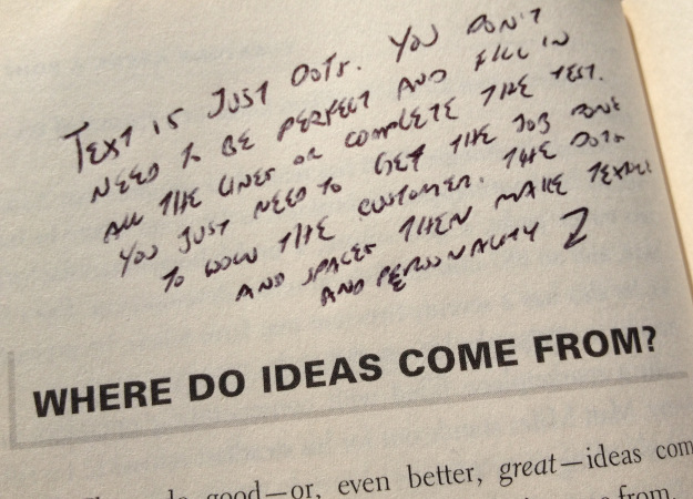 My notes on a page of The Big Moo book